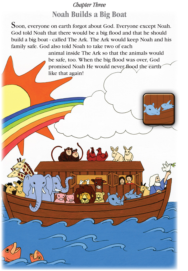 A Sample Page from the Noah's Ark Story